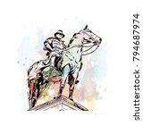 ulysses s. grant memorial in... | Shutterstock .eps vector #794687974