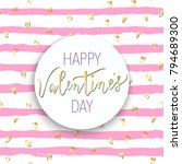 happy valentines day quotes.... | Shutterstock .eps vector #794689300