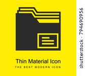 folder bright yellow material...