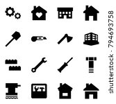 origami style icon set   gears... | Shutterstock .eps vector #794693758