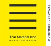menu bright yellow material...