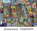 city an illustration of a large ... | Shutterstock . vector #794695390