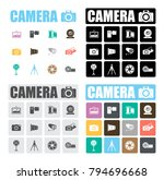 camera icons set | Shutterstock .eps vector #794696668