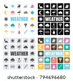 weather icons set | Shutterstock .eps vector #794696680