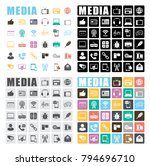 media icons set | Shutterstock .eps vector #794696710