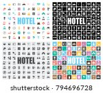 hotel icons set | Shutterstock .eps vector #794696728