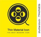 film bright yellow material...