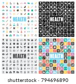 health icons set | Shutterstock .eps vector #794696890