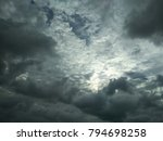 cloudy sky at beach. the cloudy ... | Shutterstock . vector #794698258