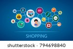 shopping flat icon concept.... | Shutterstock .eps vector #794698840