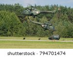 Small photo of Air Base Swidwin, Poland-June 2016: helicopters W-3 Polish special forces during military exercises