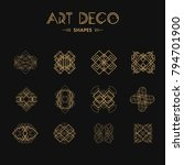 set of art deco shapes and... | Shutterstock .eps vector #794701900