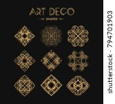 set of art deco shapes and... | Shutterstock .eps vector #794701903
