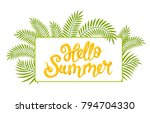 rectangular tropical frame ... | Shutterstock .eps vector #794704330