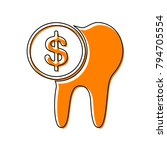 the cost of tooth treatment...   Shutterstock .eps vector #794705554