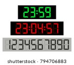 black background green clock... | Shutterstock .eps vector #794706883
