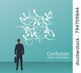 confused direction. confusion... | Shutterstock .eps vector #794709844