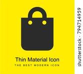 shopping bag bright yellow...