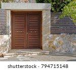 contemporary house entrance ... | Shutterstock . vector #794715148