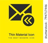 email bright yellow material...   Shutterstock .eps vector #794717446