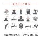 concussion. symptoms  treatment.... | Shutterstock .eps vector #794718346