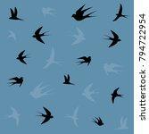 birds icons birds flying set... | Shutterstock .eps vector #794722954