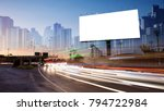 billboard blank for outdoor... | Shutterstock . vector #794722984