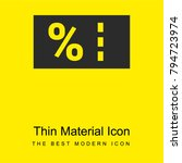 coupon bright yellow material...