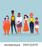 diverse international and... | Shutterstock .eps vector #794725570