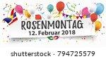 german text rosenmontag ... | Shutterstock .eps vector #794725579