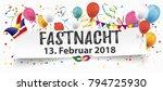 german text fastnacht ...   Shutterstock .eps vector #794725930