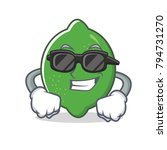 super cool lime character... | Shutterstock .eps vector #794731270