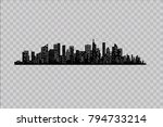 silhouette of the city in a... | Shutterstock .eps vector #794733214