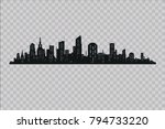 silhouette of the city in a... | Shutterstock .eps vector #794733220