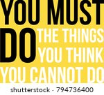 vector motivational poster.... | Shutterstock .eps vector #794736400