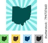 map of ohio | Shutterstock .eps vector #794737660
