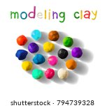 color modeling clay balls set...   Shutterstock .eps vector #794739328
