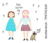 valentine's day card | Shutterstock .eps vector #794742163