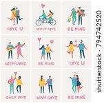 vector valentine illustration... | Shutterstock .eps vector #794742520