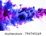 acrylic colors and ink in water.... | Shutterstock . vector #794745169