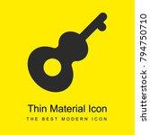 guitar bright yellow material...