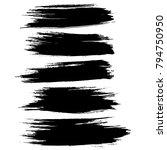 grunge ink brush strokes set....   Shutterstock .eps vector #794750950