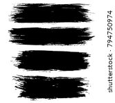 grunge ink brush strokes set.... | Shutterstock .eps vector #794750974