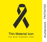 awareness ribbon bright yellow...