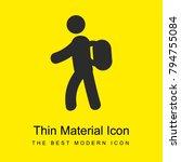 backpacker bright yellow...