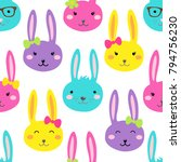 cute bright childish easter... | Shutterstock . vector #794756230