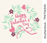valentine's day greeting... | Shutterstock .eps vector #794756344