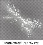 a set of lightning magic and...   Shutterstock .eps vector #794757199