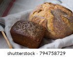 wheat and rye bread | Shutterstock . vector #794758729