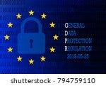 gdpr   general data protection... | Shutterstock .eps vector #794759110